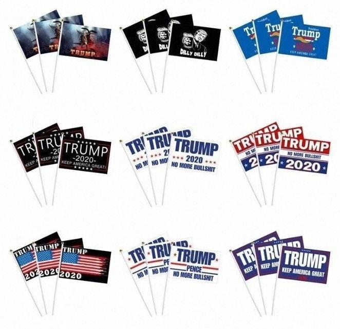 bandeiras Decor Bandeira / bandeira Trump América Novamente para Flag presidente EUA Donald Trump Bandeira Eleição Donald Flags 14 * 21 centímetros 21styles 1pc 610 gYi1 #