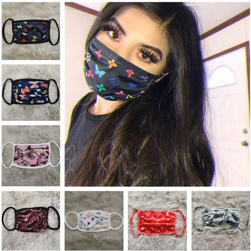 Unisex de la mascarilla a prueba de polvo mascarillas anti-UV de moda Imprimir Hombres Mujeres cubrir la boca lavable y transpirable mascarilla de las máscaras de moda al aire libre mejores