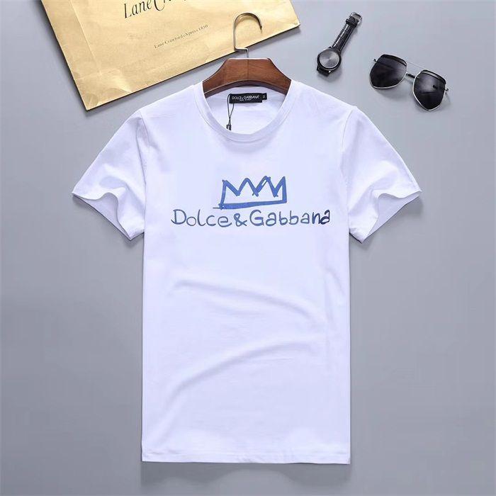 2020 hombres Rampo / Rampo de manga corta camiseta de las letras de la raya blanca arriba abajo camisa de cuello redondo medio camiseta de manga PO0226 ropa de moda