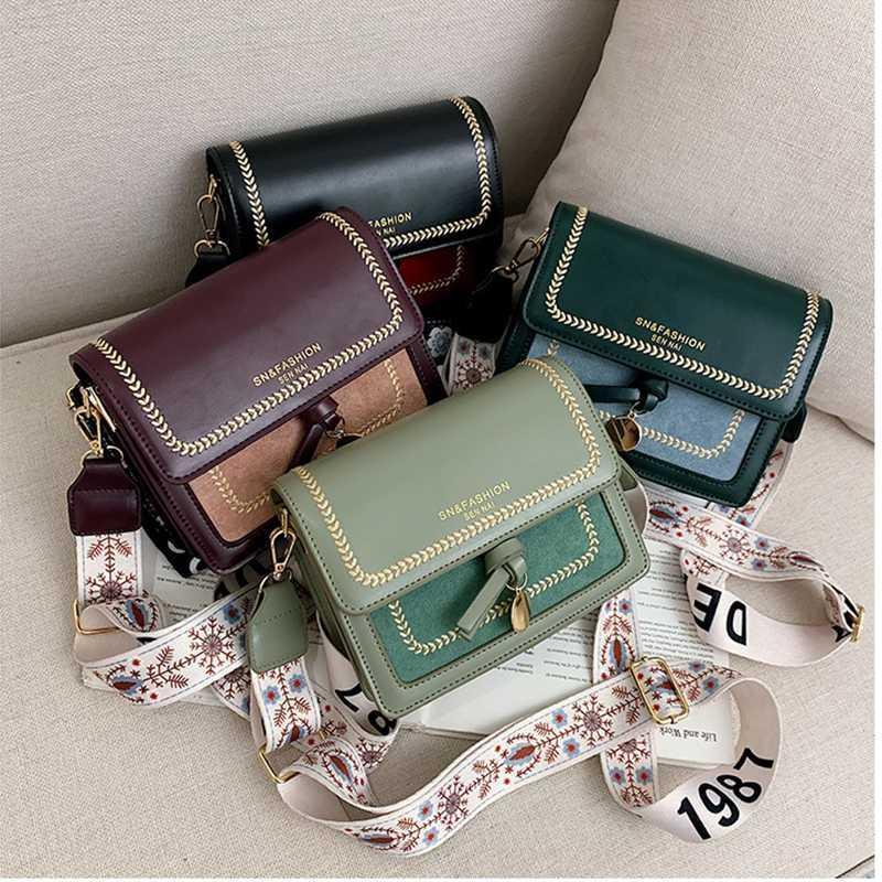 Bolsa Corpo contraste de cores bolsas de couro Bandoleira Mulheres Viagem Handbag Moda Simples Ombro Messenger Bag Lady Cruz para a fêmea