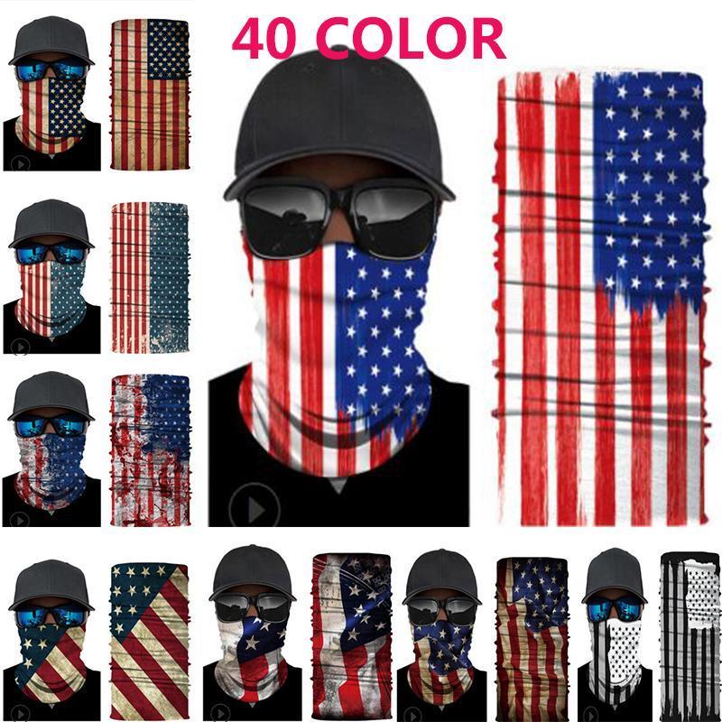 40 Styles l'America Bandiera Foulard Maschera in bicicletta Trump sciarpa magica esterna multifunzione Foulard Maschera feste IIA523