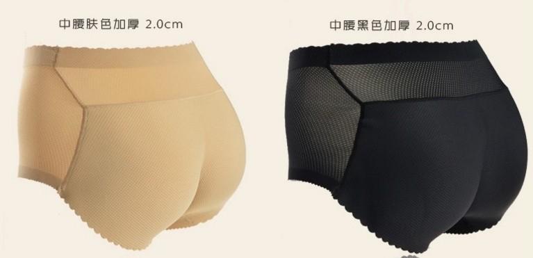 INS usine offre spéciale solide Hip levage Underpants Femmes Hip mi-taille Pantalon rembourré hanche Faux Sous-vêtements Butt