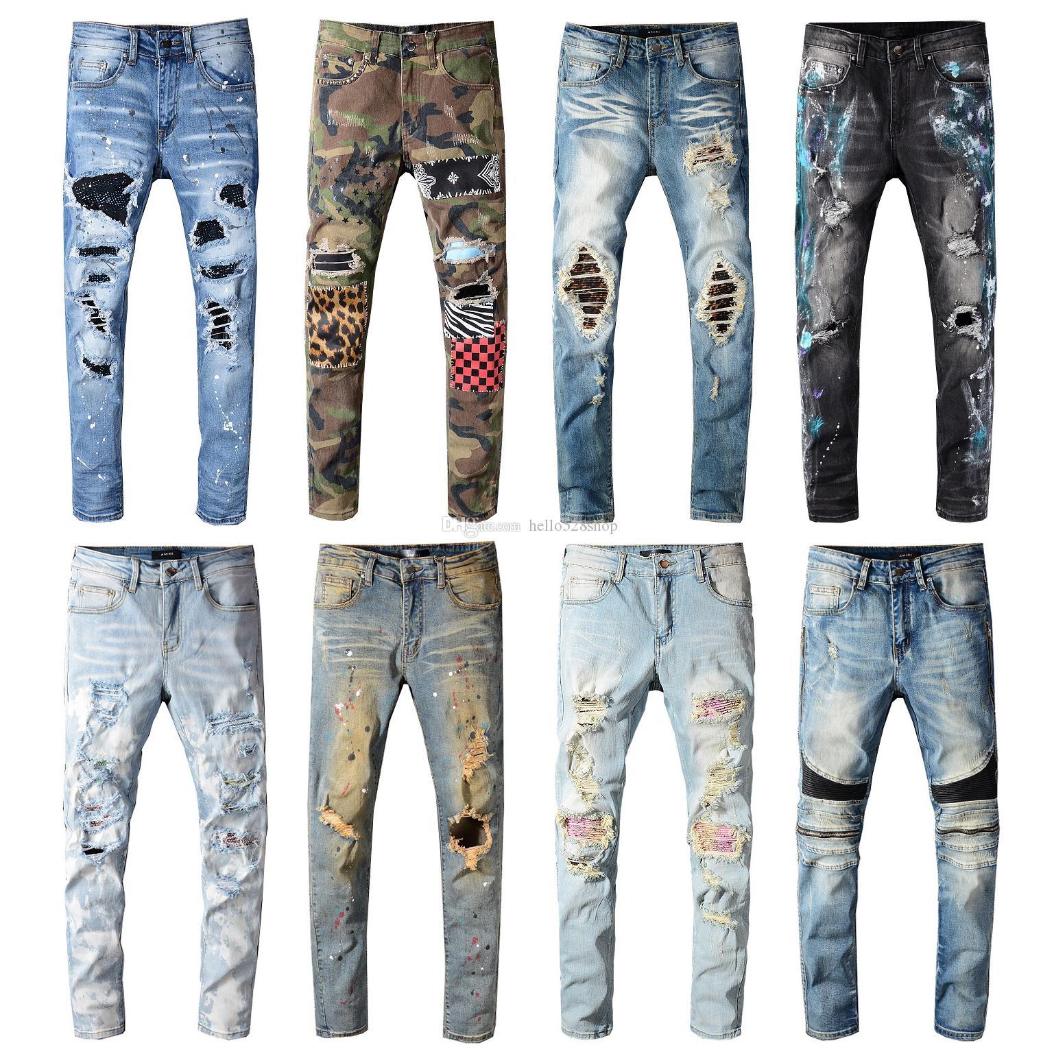 En Kaliteli Vintage Özellikleri Erkek Kot Pantolon Streetwear Motosiklet Stil Lokomotif Fermuar Biker Pantolon Klasik Slim Erkekler için