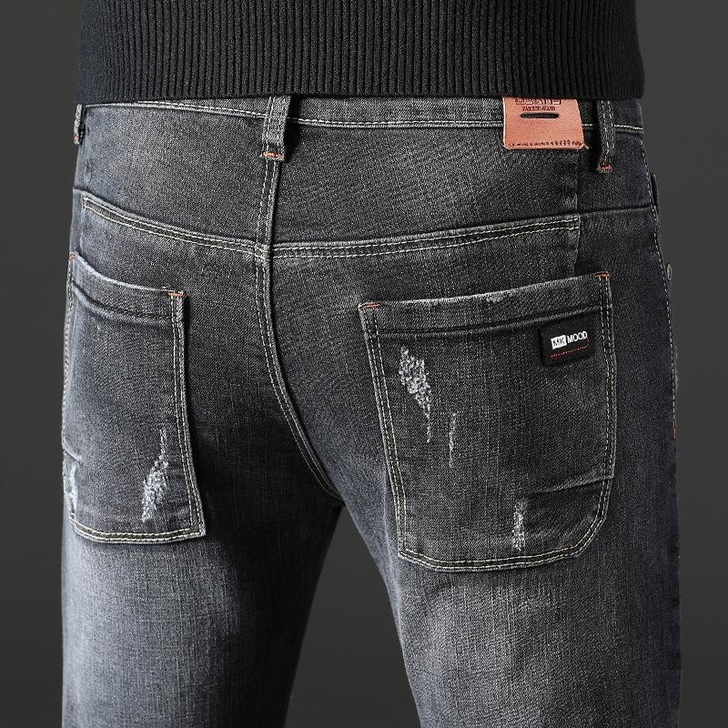 3udsh Nueva pantalones de invierno pantalones vaqueros de los pantalones vaqueros rectos otoño hombres y jóvenes y tiro bolsillos de los hombres coreanos diaria