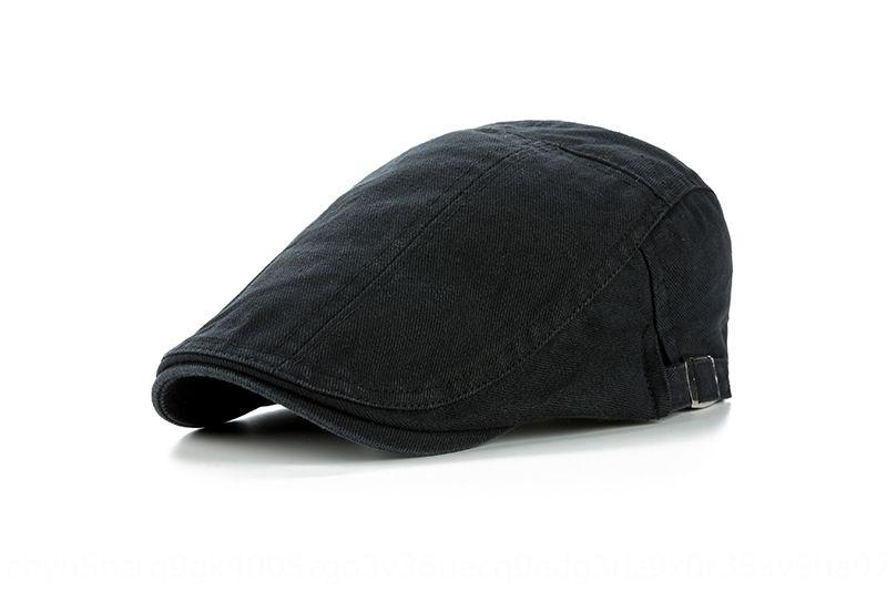 Korean style fashion cotton light beret beret plate color matching cap men's high-end sun hat