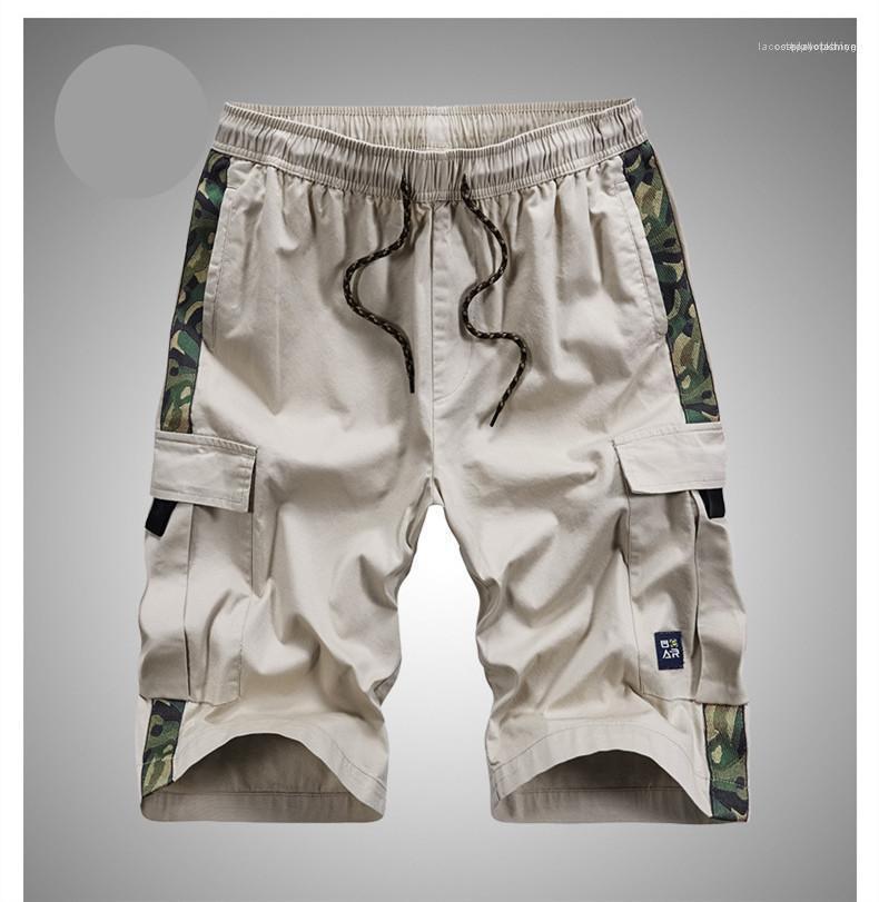 Relaxed lunghezza del ginocchio estate confortevole Pantaloncini multitasche Camouflage coulisse Mens Shorts Pantaloni Moda sciolte maschi