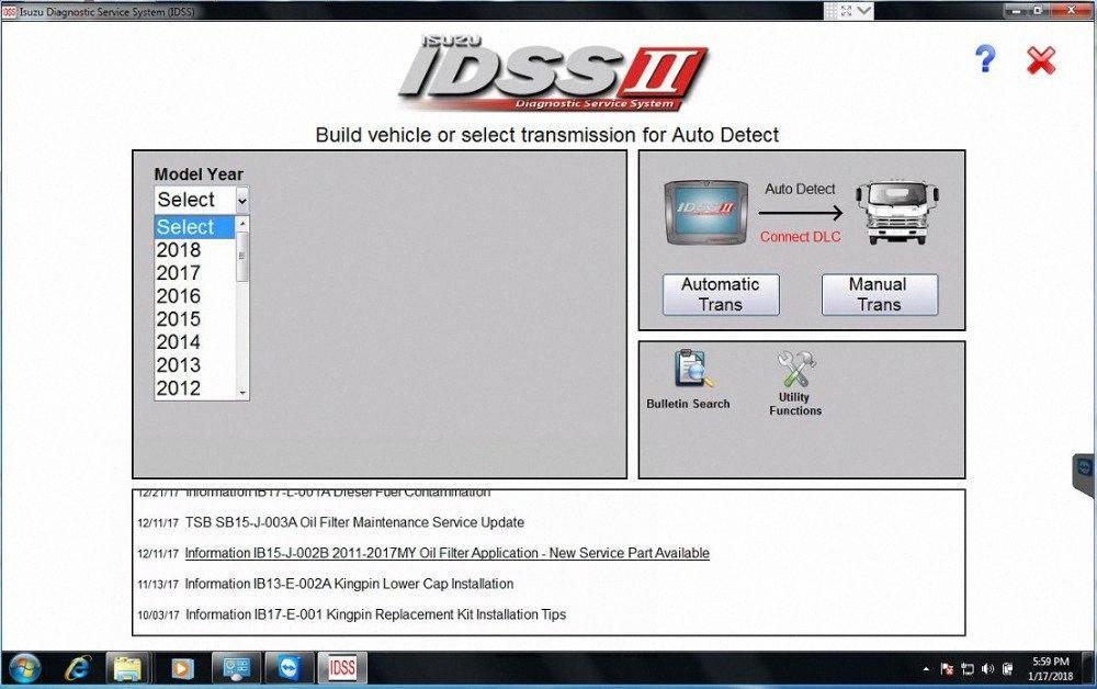 Para Isuzu IDSS II 2018 Isuzu Diagnostic System Service + 2sQ7 licença #