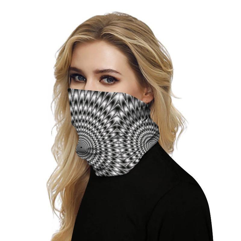 여성 남성 얼굴 스카프 남녀 겸용 원활한 레이브 두건 넥 게이터 튜브 모자 두건 오토바이 얼굴 머리띠를 인쇄