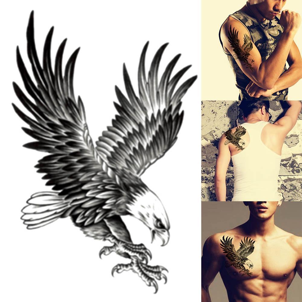 Mode aigle modèle étanche tatouage temporaire Art Body Tattoo épaule poitrine autocollant de tatouage personnalité Tatouages homme