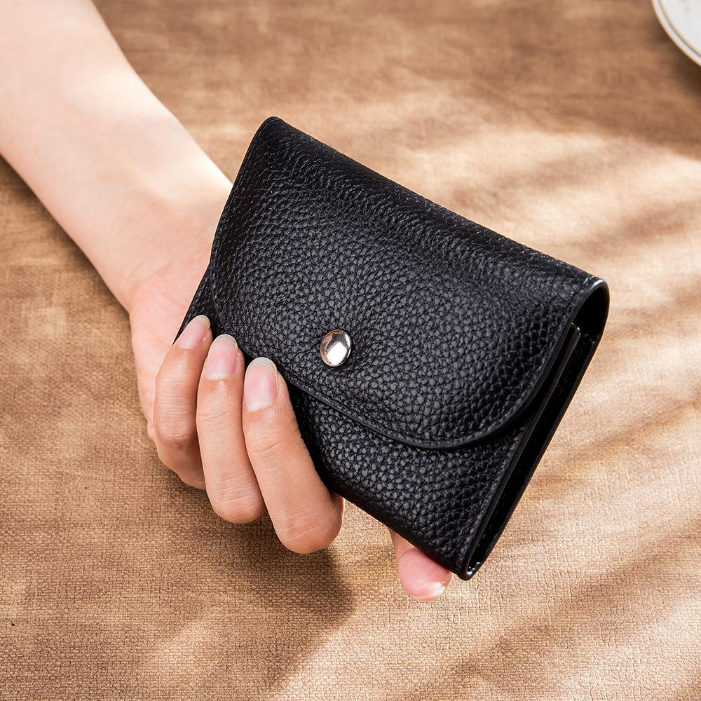 Female Money Holder Women Casual Leather Genuine Card Small Wallets Simple Bag Short Wallet Men Purse Coin With Zipper Pocket Usxrn