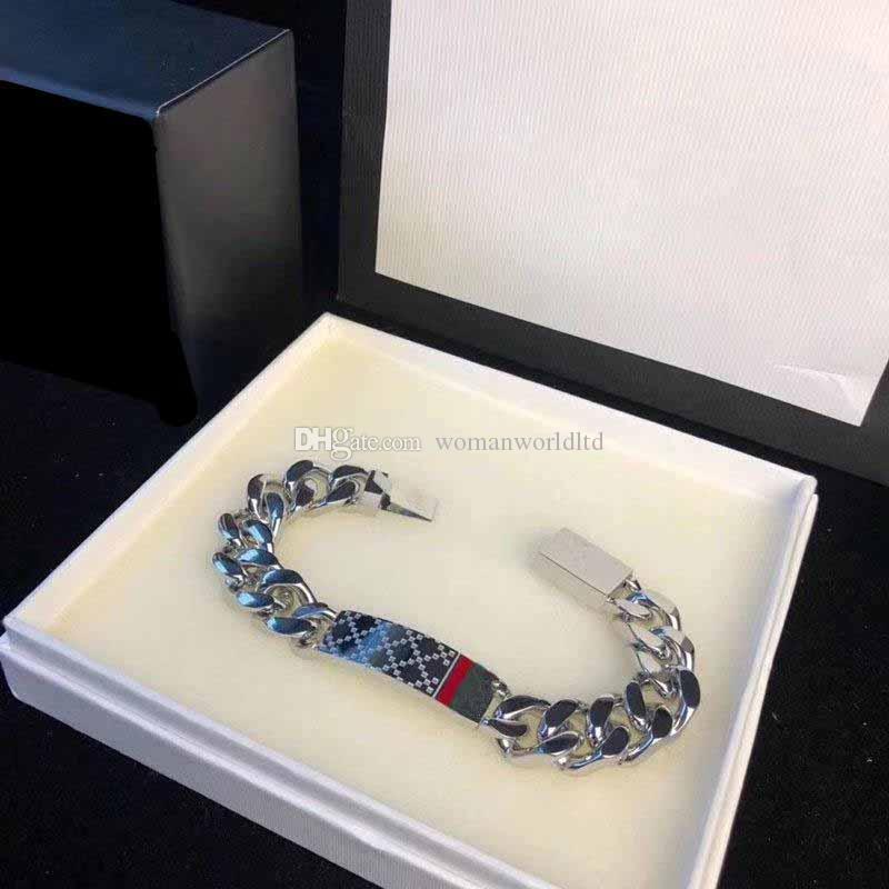 Luxuriöse Kettenarmbänder für Männer Frauen Titanstahl G Armband Designer Armreif Mode Silberschmuck Liebhabergeschenk (kein Kasten)
