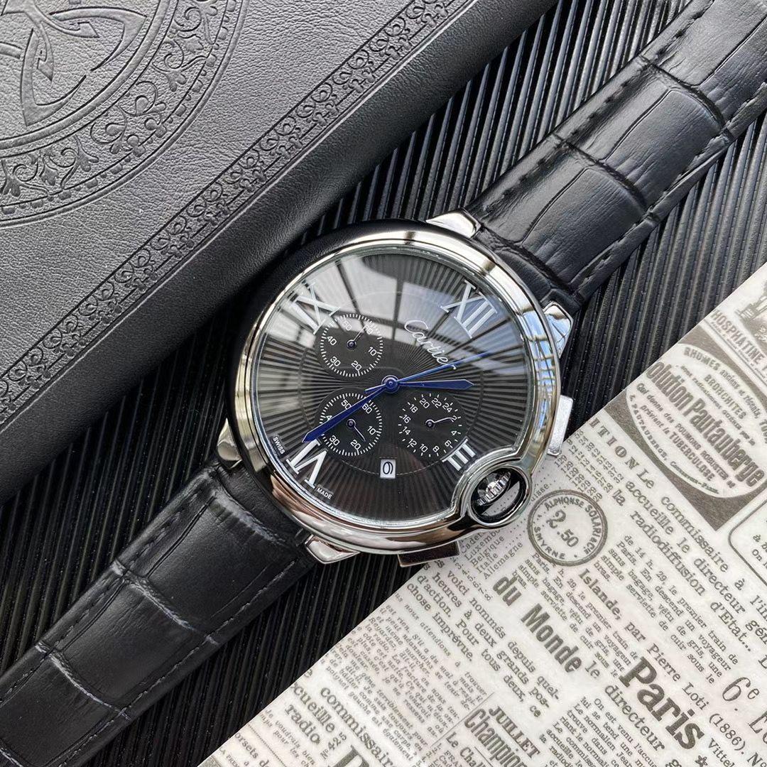 Atacado marca de topo suíço clássico relógio de safira de luxo diamante relógio de pulso esculpida cronômetro de couro ocasionais dos homens relógios Orologi di lusso