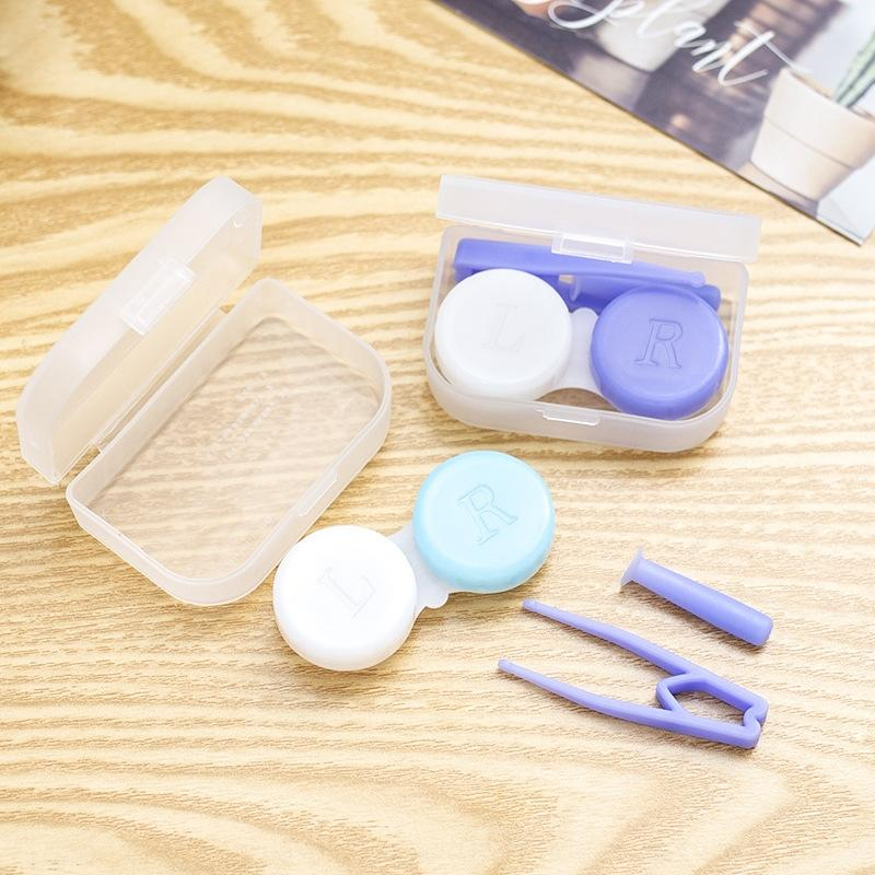 101 nouvelles lentilles Shuang petite boîte lunettes cosmétiques lunettes de cas boîte cosmétique, il lian contacts lentilles de contact de la plus haute qualité cas nmEm8