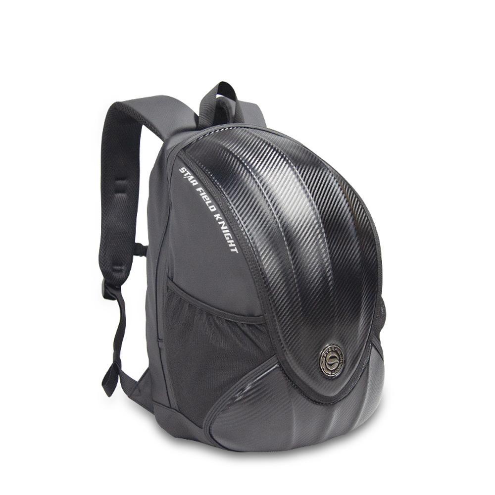 star field knight Carbon Fiber Motorcycle Bag Riding Helmet Backpack Waterproof Moto Rider Backpack Reflective Large Capacity Full Helmet