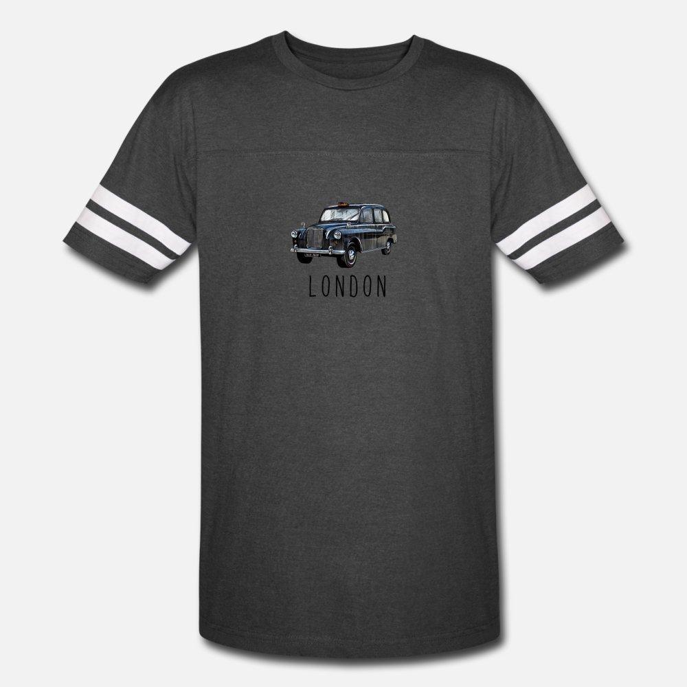 Klassik London Black Taxi britischen Für London-Liebhaber T-Shirt Männer Druck Kurzarm Rundhals-Vintage Grafik Humor Frühlings-Herbst-Muster