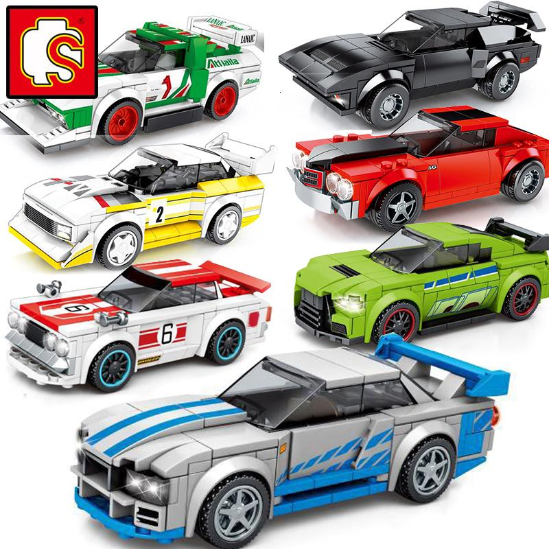 Sembo velocidade dos Campeões Super Race Car Racing Modelo Building Blocks Kits desportivos conjuntos cidade Grande Veículo 2020 crianças brinquedo New Technic