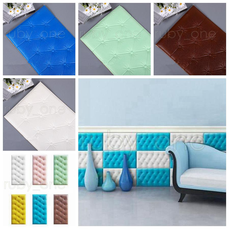 30*60cm XPE Foam Wall Stickers DIY PU Waterproof Wall Panels for Kids Room Self Adhesive Kindergarten Wall Stickers Home Decor RRA3488