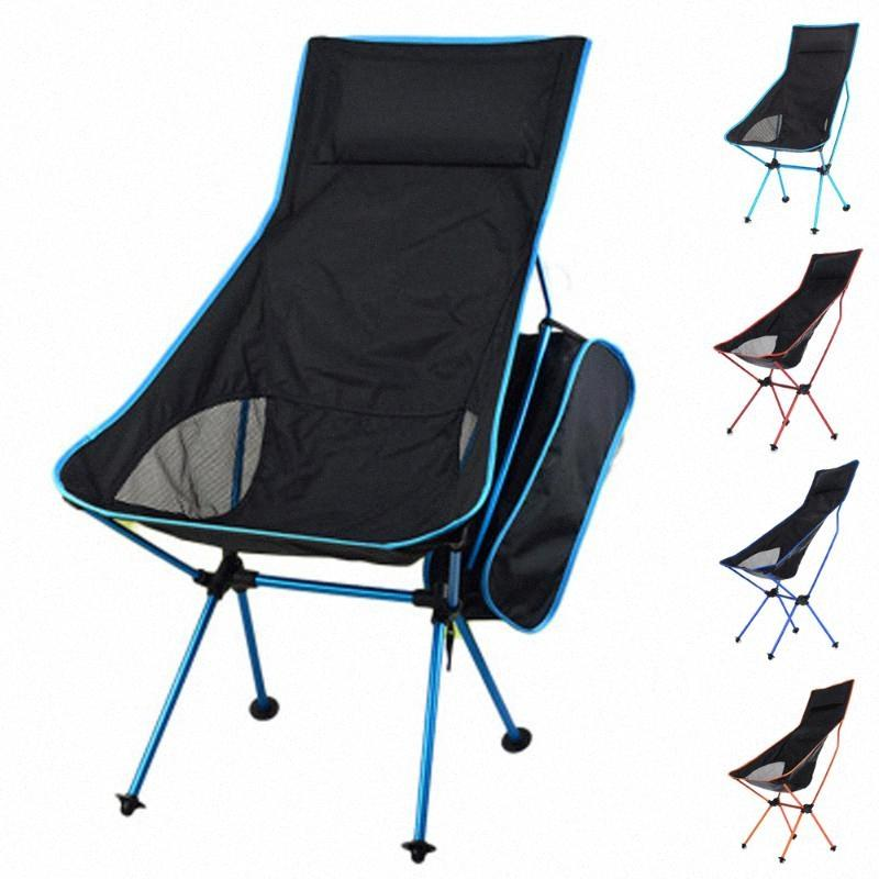 HooRu Folding Chair With Backrest Camping Beach Fishing Deck Chairs Backpacking Chair With Carry Bag Outdoor Garden Furniture Best Out AlzX#