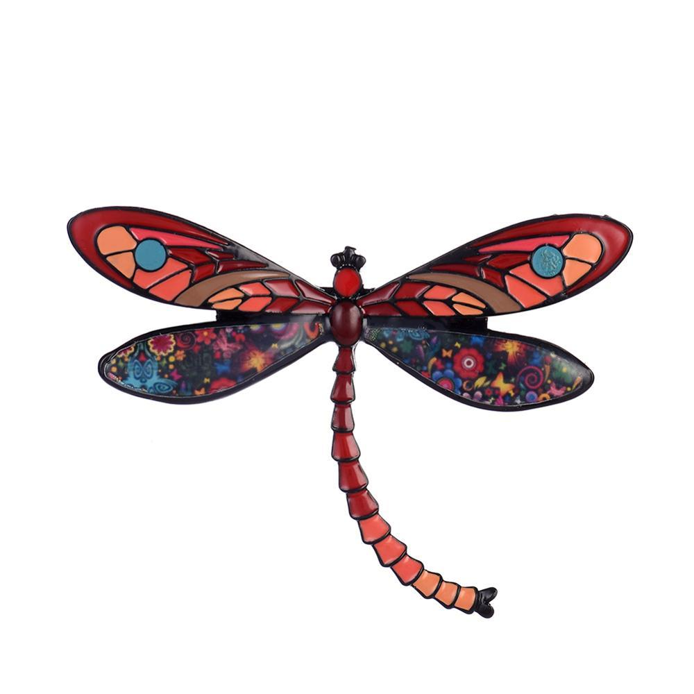 Broche de inseto libélula broche pinos badge broches para mulheres na moda esmalte metal liga amarelo rosa broche festa de casamento jóias