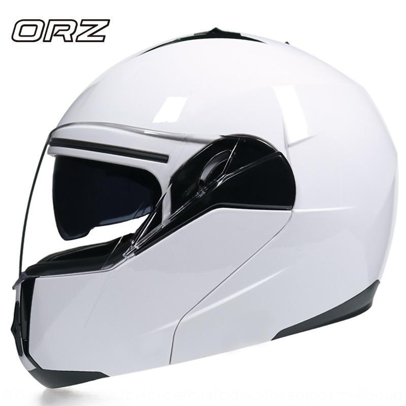 uOCCb Nuevo casco estiramiento facial lente doble casco eléctrica personalizada cubierta completa de la motocicleta motocicleta de la cámara de hombres y mujeres de
