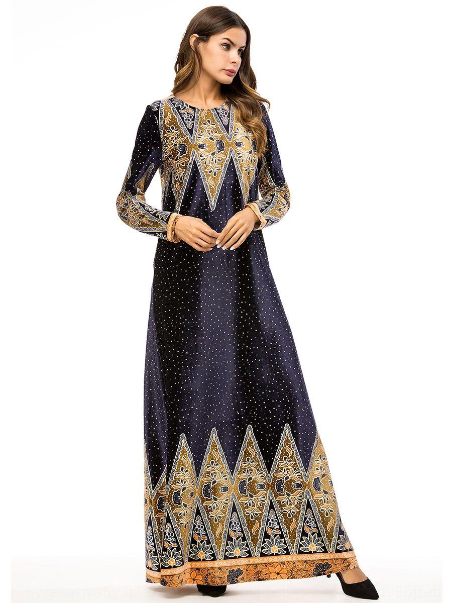 7320 mustlin robe à manches longues à la mode grande robe mustlin ourlet 7320 imprimé manches longues à la mode robe ourlet grande robe imprimée PSlXu PS