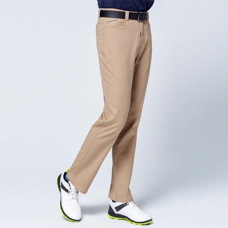 Automne Hiver coupe-vent hommes Pantalons de golf épais garder au chaud Pantalon long haute stretch Cadrage en pied Pantalon de golf Vêtements D0651 Z7hX #