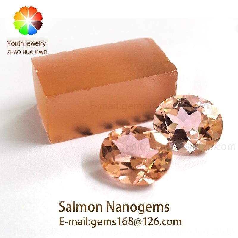 cor salmão salmão Morgan pedra Mandarin cor peixe Morgan pedra artificial nano NANO SITAL Wuzhou artificial CZ hatDi