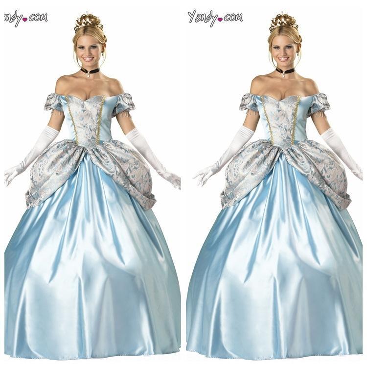 tvzgG costume cosplay della principessa Cenerentola servizio servizio Sisi Halloween Corte principessa abbigliamento neve costume