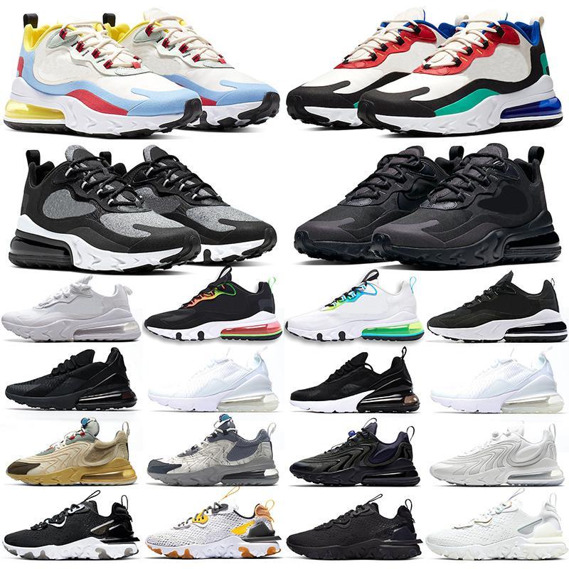 nike baskets air max 270 chaussures de course homme femme blanc noir
