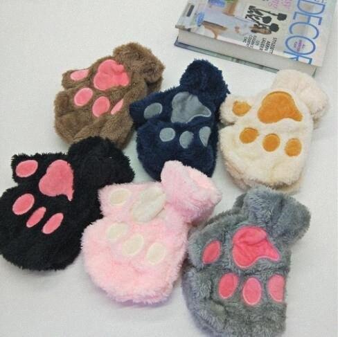 Kid Fingerlose Handschuhe reizende Haustier Bear Paw-Handschuhe Halloween-Party-Mode-Frauen warme Handschuhe Cosplay Zubehör WY389Q vK7y #