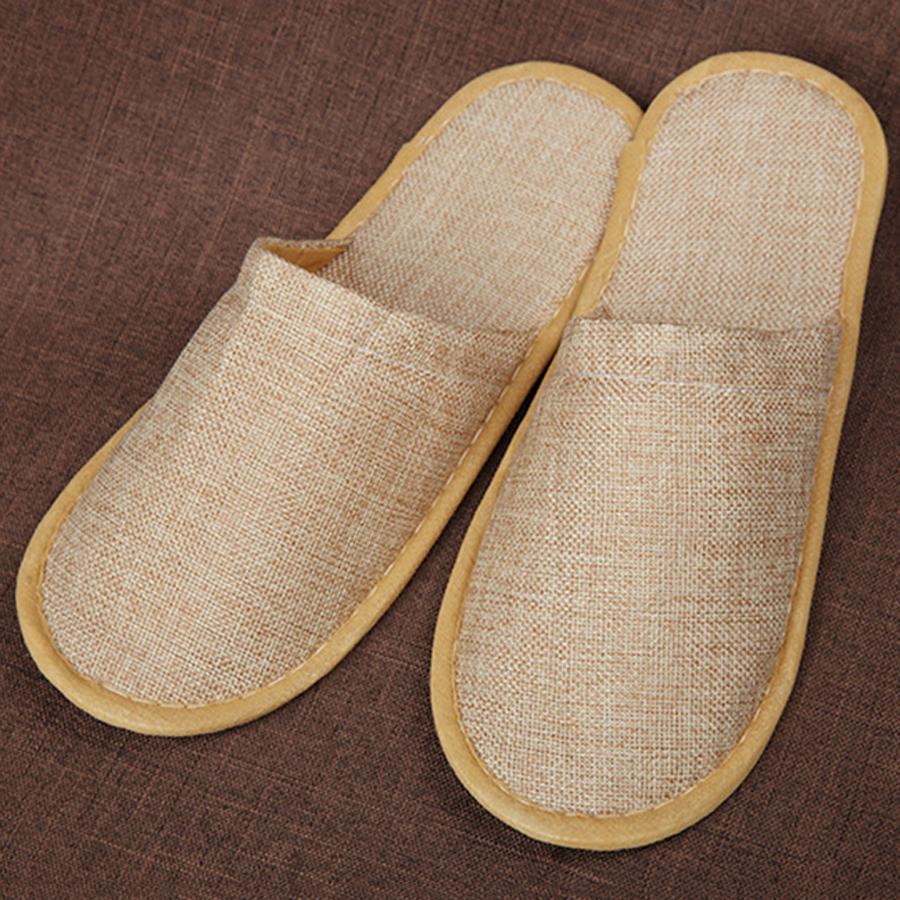 Vente en gros doux et respirant Épaissir jetables Chaussons Lin Coton Home Guest toes Chaussures Hôtel anti-dérapant à usage unique Chaussons TQQ BH0611