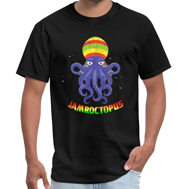 Reggae roots pulpo lindo divertido kraken Jamaica camiseta caballeros hip hop tecno camiseta XXXL 4XL 5XL 6XL hiphop tops