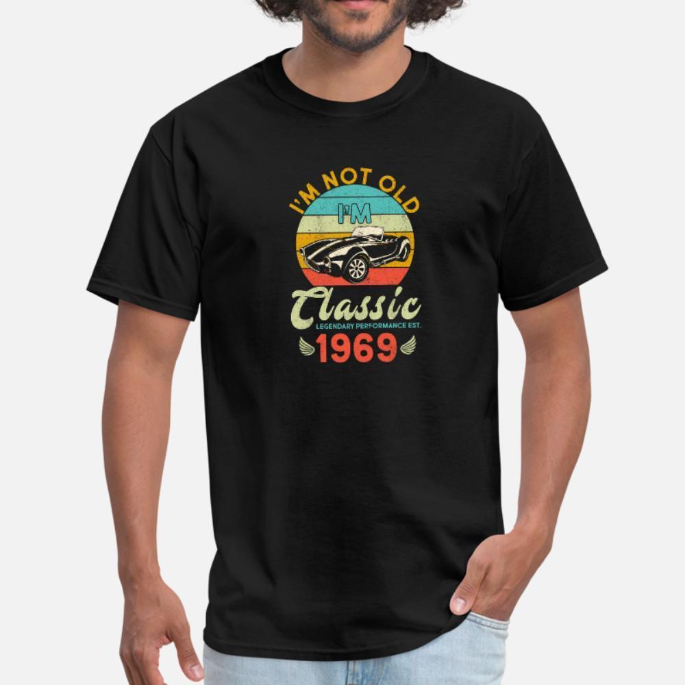Kostüm Çılgın Otantik Bahar Biçimsel gömlek 3XL ben M Değil Eski Ben M Klasik 1969 t gömlek erkekler özelleştirme pamuk artı boyutu