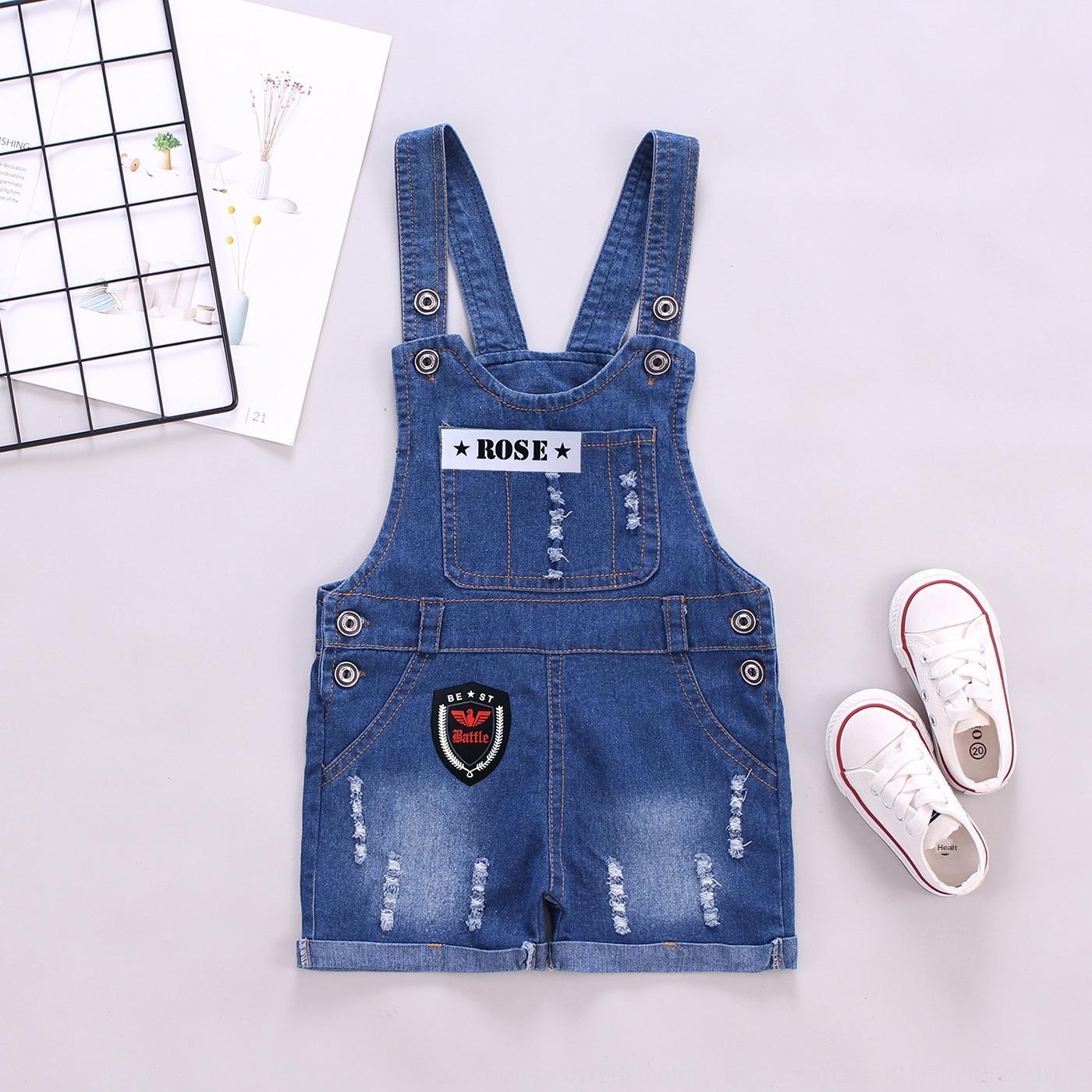 pantalon d'été pantalon bébé Sling short culotte style coréen casual pantalon denim jarretelle enfants Vêtements pour enfants