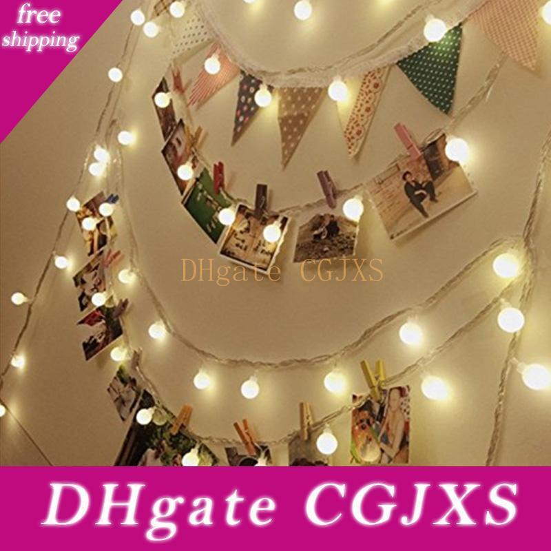 1set 2m 20 Led à piles Guirlande LED lumières pour Noël Guirlande de fête de mariage Décoration de Noël de vacances d'éclairage