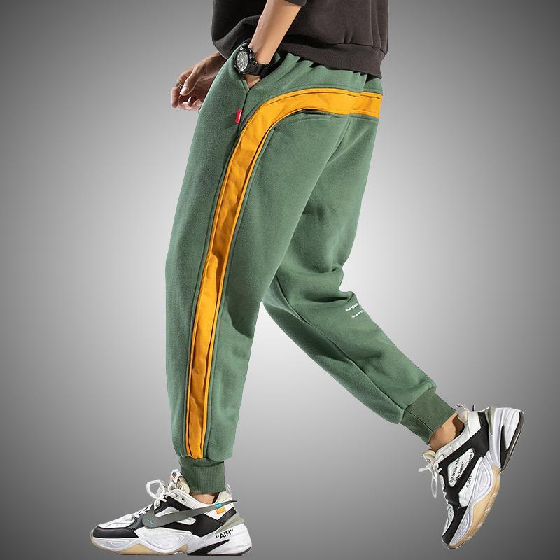 Side listrado Sweatpants Homens Marca New Jogger Calças dos homens da forma de Streetwear Hip Hop Calças Masculino soltas Fit Harem Pants 200925