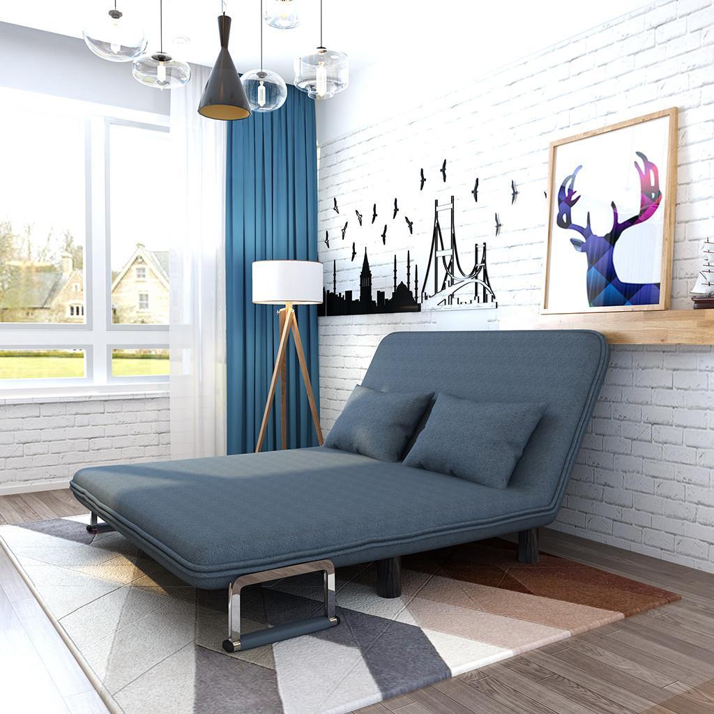 Konvertierbares Schlafsofa Bett herunterklappen Recliner Couch mit Armstuhl Schwelle Freizeitregler Lounge Couch (Doppelschlafsofa)
