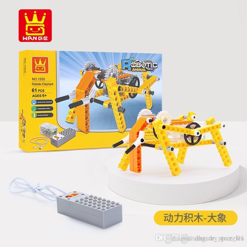 new chlidren Intelligence toys animal Mechanics Building block splicing boys toys Intellectual development office decoration KAWS toy