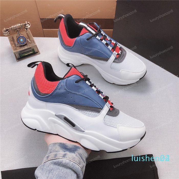 Hommes Womes Toile Chaussures en cuir vachette Baskets mode casual Europa Fashion Designer Shoes de luxe Sneaker Waling Robe 1 L24