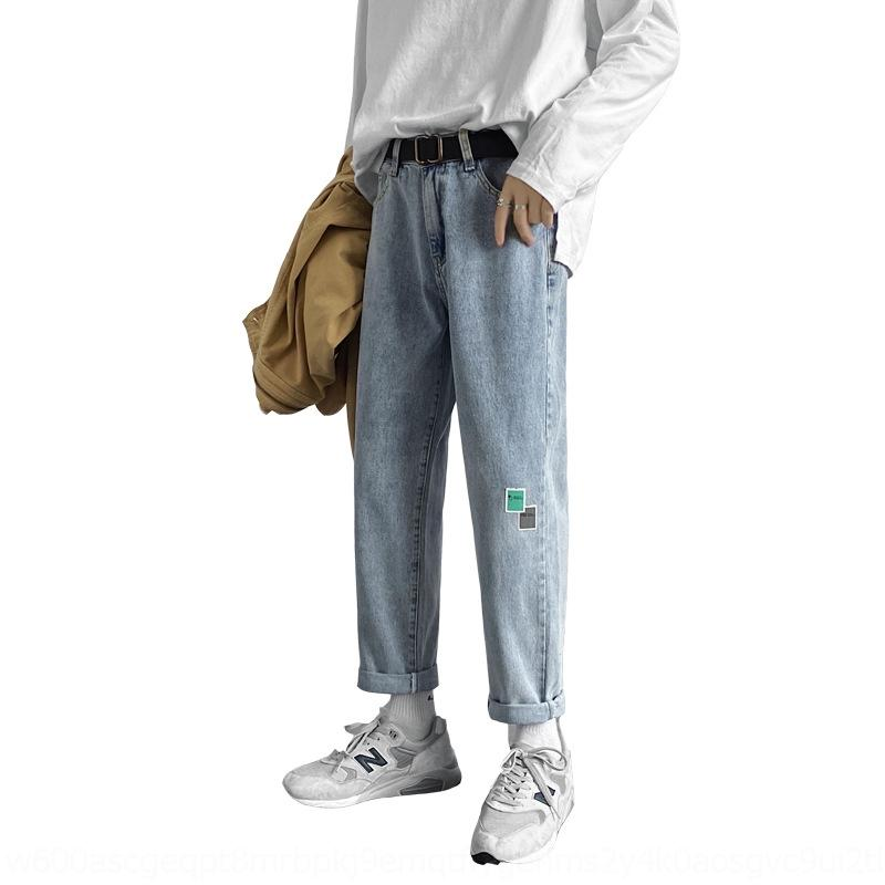 qwE03 Корейского Комбинезон мужских осенние джинсы джинсы ули тонкие щиколотки dYqYs стиля модного все-матч гетры мальчиков брюки свободной прямые брюки JUM