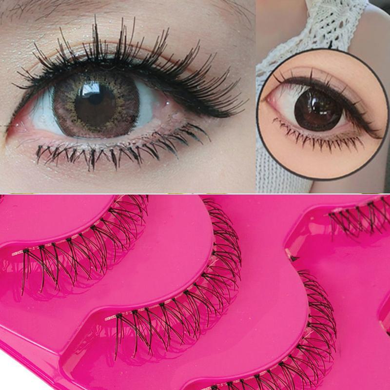 5 Pairs Handmade False Eyelashes Natural Cross Soft Lower Fake Eye Lashes Under Bottom High Quality False Eyelash Waterproof Hot