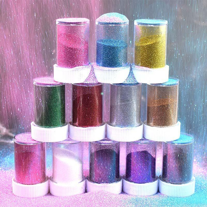 Lipgloss Ruj Pigment için Dudak Glass 20g Glitter Tozu Renkli DIY Malzeme Pırıltılı Yüz Makyaj