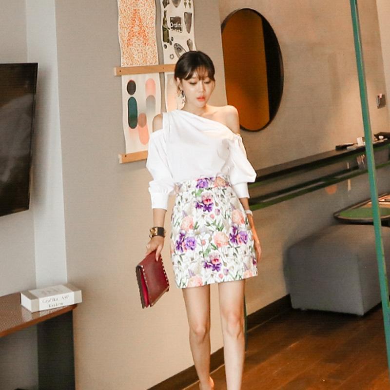 progettazione di abbigliamento abbigliamento primavera del Ksryz Rt4Wv Donne floreale 2020 elegantshoulder abito gonna cappotto 2020 molla di stile coreano in stile coreano delle donne