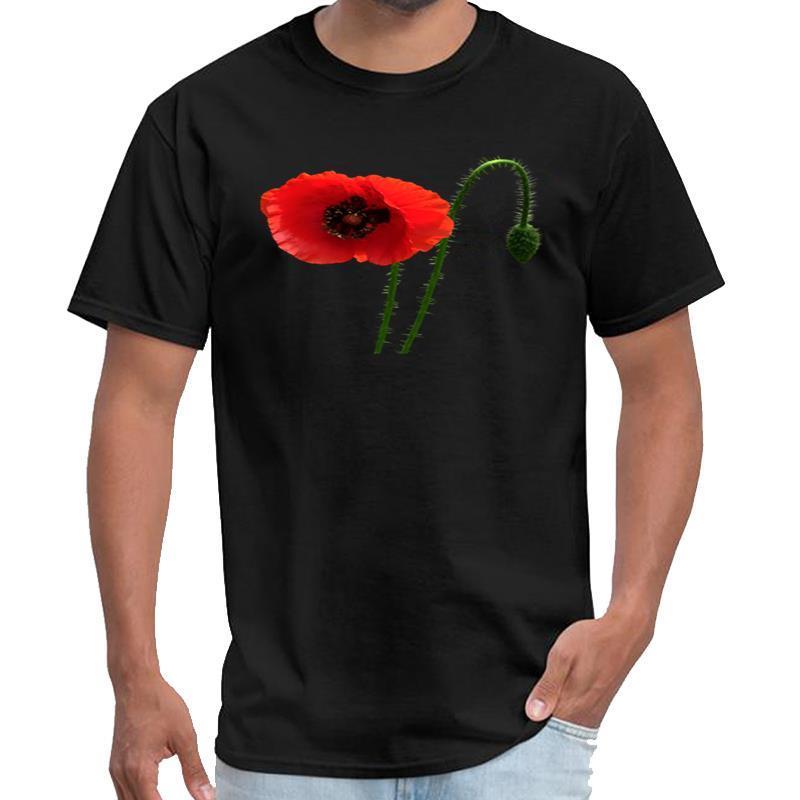 Personalizado Poppy Red e Bud streetwear mulheres camiseta ropa camiseta tamanho grande s padrão ~ 5xL