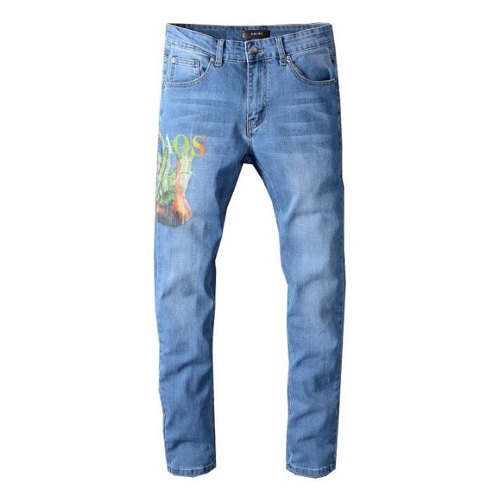 2020 Новый дизайн мужские джинсы лето тенденции моды Stretch Тонкий Прямые джинсы Denim Trend Мужские повседневные Длинные брюки высокого качества WF2004161