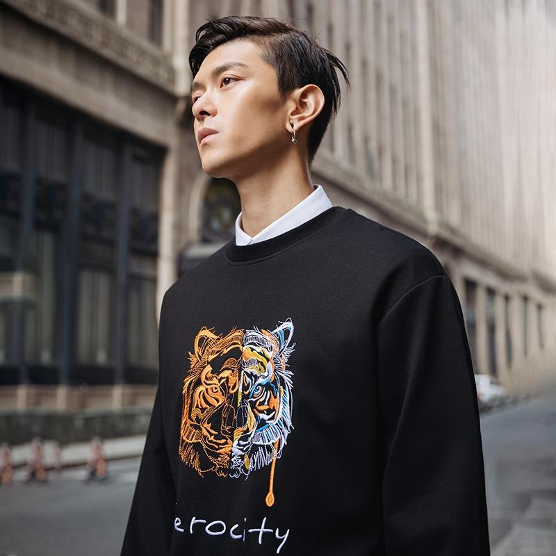 31nfv lJkyy сыпучих мужская одежда 2020 Весна и Осень бренд National свитер новая улица моды пальто свитер Ins национальной моды Trendy ти