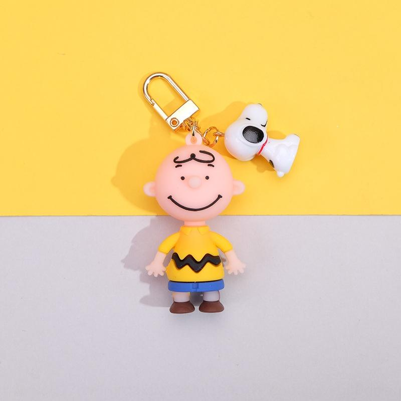 Korean Key Chain ins cartoon dropper Snoopy Charlie Brown keychain pendant unisex bag pendant gift vgZsD