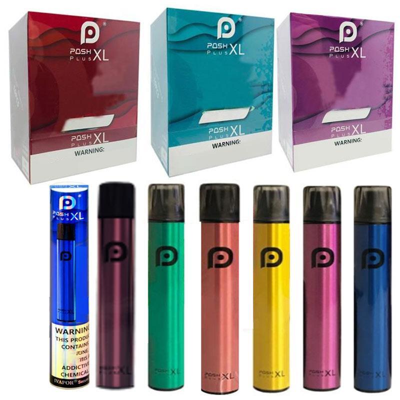 13 цветов NEW POSH PLUS XL одноразовое устройство POD Kit 6 мл картриджи 1500Уфуфты Vape пустая ручка против Puff Bang XXL PLUS