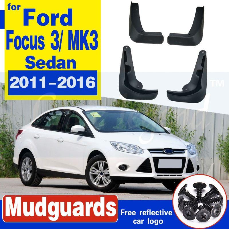 4pcs Auto Kotflügelverbreiterungen Mud Flaps Spritzschutz für Ford Focus 3 MK3 Sedan 2011 2012 2013 2014 2015 2016 Radabdeckungen Mudflaps