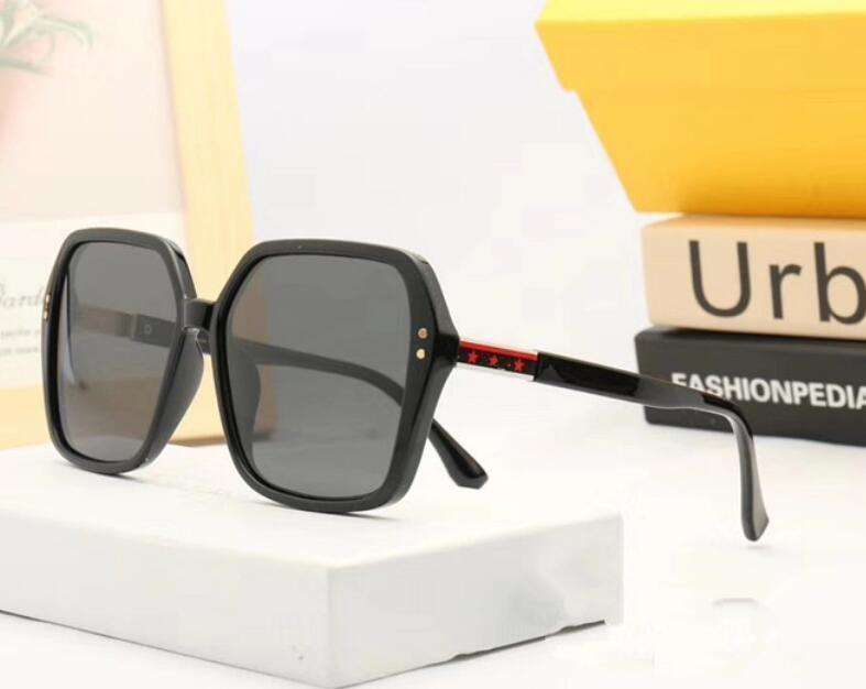 2020 nuova personalità grande cornice del fronte di specchio occhiali da sole rotondi di moda rospo